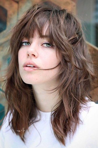 18 Shag Hairstyles & Haircuts That Have An Approach For Every Hair Within Long Hair Shaggy Layers (View 24 of 25)