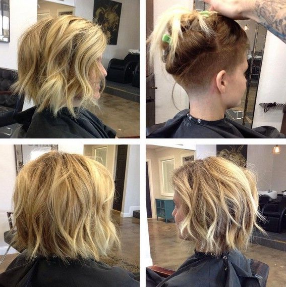 18 Short Hairstyles Perfect For Fine Hair | Hair And Makeup And Within Long Hairstyles Shaved Underneath (View 7 of 25)