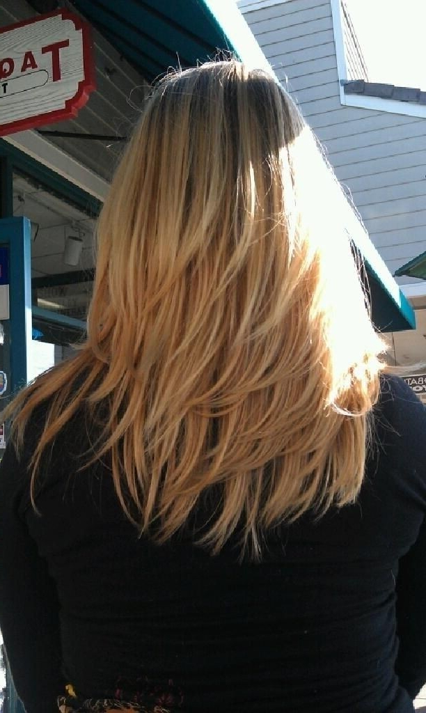 18 Shoulder Length Layered Hairstyles – Popular Haircuts Within Long Hairstyles Layers Back View (View 5 of 25)