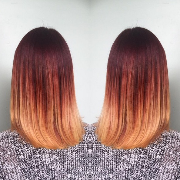 18 Striking Red Ombre Hair Ideas – Popular Haircuts With Long Hairstyles Red Ombre (View 14 of 25)