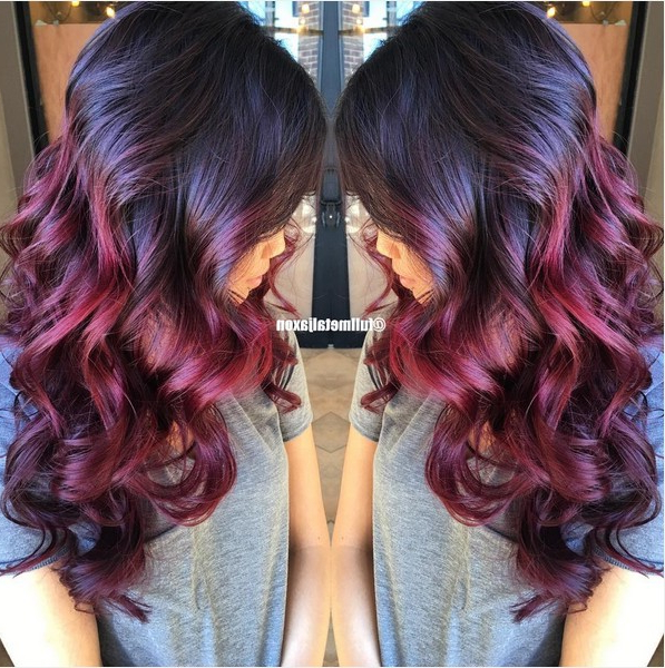 18 Striking Red Ombre Hair Ideas – Popular Haircuts With Long Hairstyles Red Ombre (View 6 of 25)