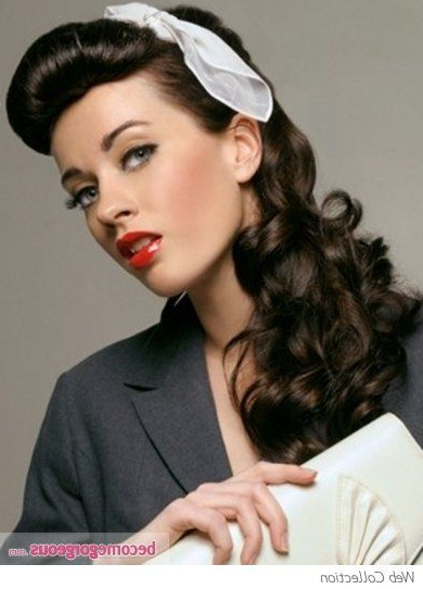 18 Vintage Pin Up Hairstyles For Long Hair | Hairstyles Ideas Inside Long Hairstyles Vintage (View 5 of 25)