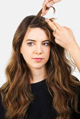 18 Ways To Get Your Bangs Out Of Your Face | Growing Out Bangs Regarding Long Hairstyles Growing Out Bangs (View 10 of 25)