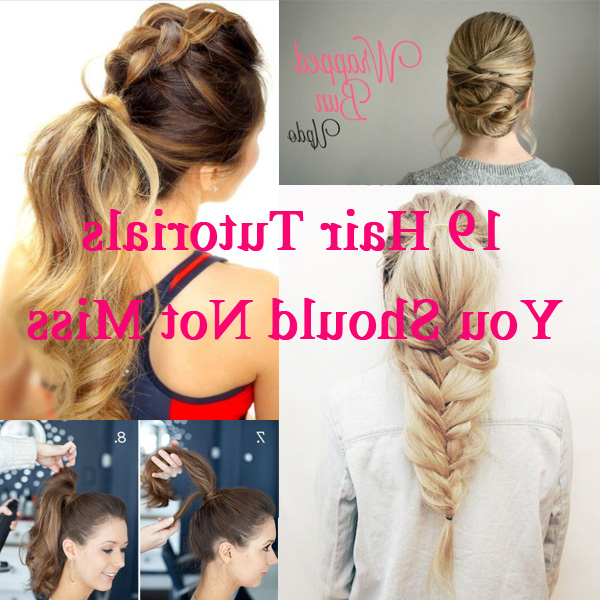 19 Easy Hair Tutorials For Summer 2017 – Pretty Designs Inside Long Easy Hairstyles Summer (View 9 of 25)