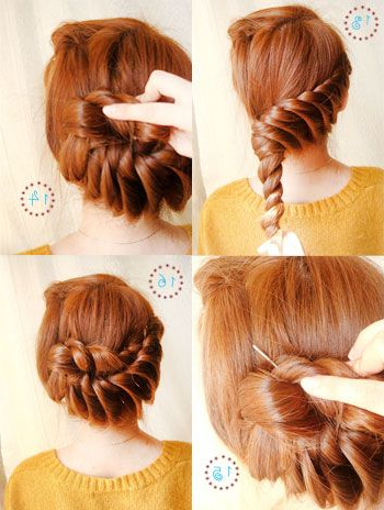 19 Fabulous Braided Updo Hairstyles With Tutorials – Pretty Designs With Regard To Twisting Braided Prom Updos (View 23 of 25)