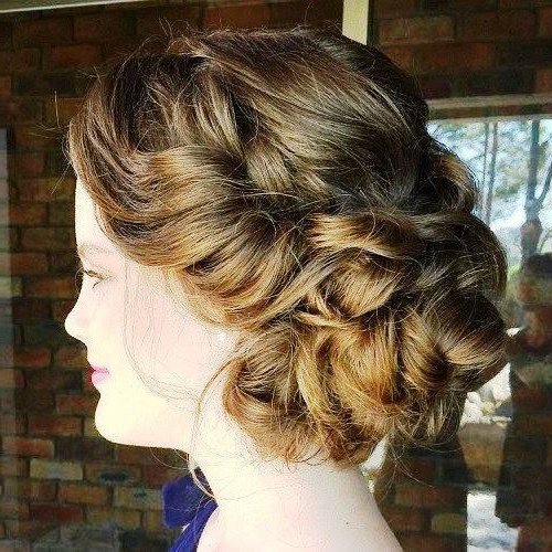 19 Prom Hairstyles For Short Hair That You Can't Ignore Inside Twisted And Curled Low Prom Updos (View 17 of 25)