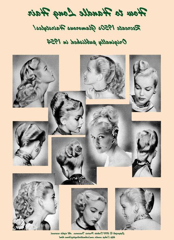 1950S Atomic Hairstyle Book Create 50S Long Hairstyles Ingerid Pertaining To 50S Long Hairstyles (View 24 of 25)