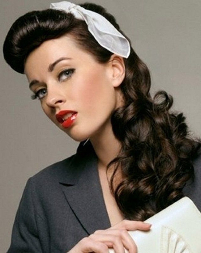 1950S Hairstyles For Curly Hair – Cute Hairstyle Ideas With 1950S Long Hairstyles (View 18 of 25)
