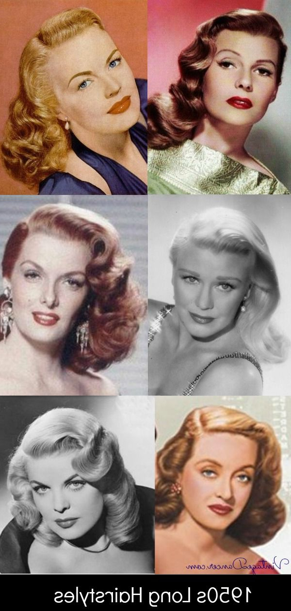 1950S Long Hairstyles, Curly Hair, Movie Stars, Day And Evening 50S With 1950S Long Hairstyles (View 6 of 25)