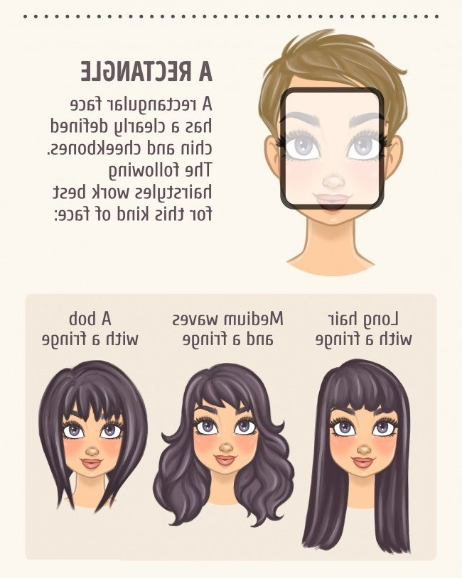 2 A Rectangle | Face Shapes In 2019 | Face Shape Hairstyles, Hair For Long Hairstyles Rectangular Face Shape (View 2 of 25)