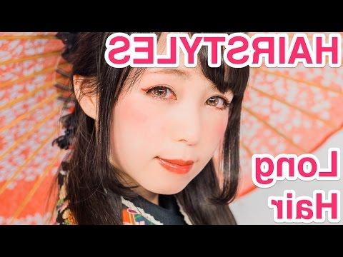 "2 Kawaii Hair Styles ""long Hair"" For Kimonojapanese Model Yui Pertaining To Long Kawaii Hairstyles (View 23 of 25)"