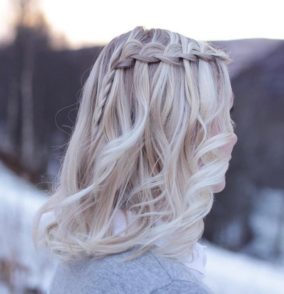 20 Amazing Braided Hairstyles For Homecoming, Wedding & Prom Pertaining To Chic Waterfall Braid Prom Updos (View 18 of 25)