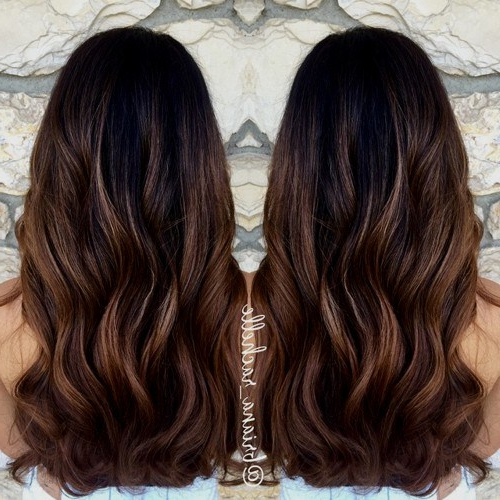 20 Beautiful Brown Hairstyles For Summer: Women Hair Color Ideas 2019 Within Long Hairstyles And Color (View 16 of 25)