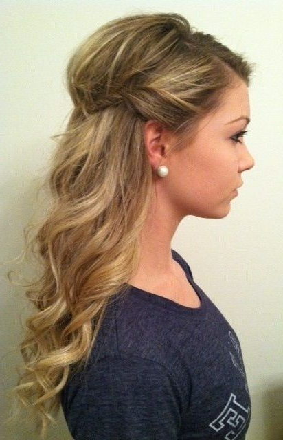 Featured Photo of Long Hairstyles Half Pulled Back