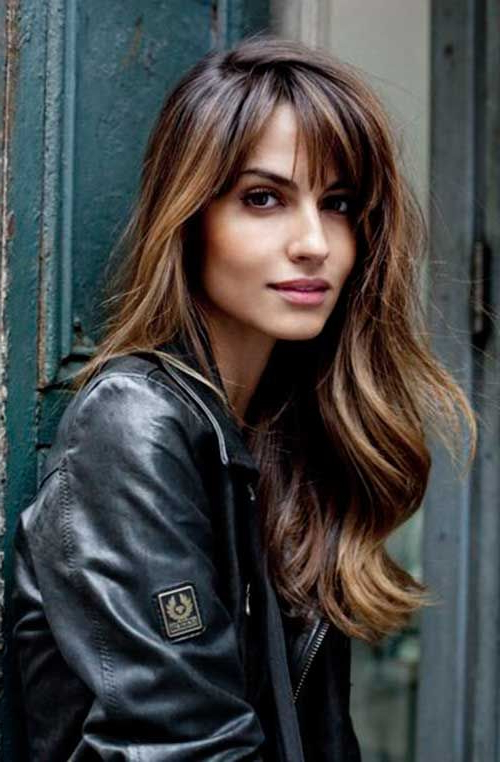 20+ Best Long Bangs Long Hair   Hair   Hair Styles, Long Hair With Intended For Long Hairstyles Layered With Fringe (View 13 of 25)