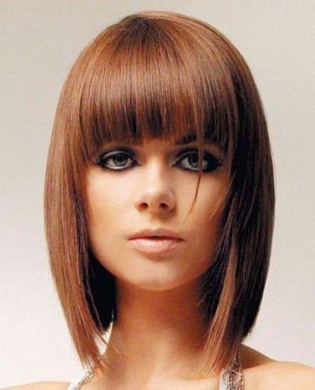 20 Best Short Fringe Hairstyles For Short Fringe Long Hairstyles (View 12 of 25)