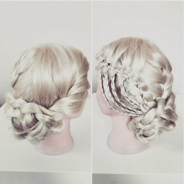 20 Best Waterfall Braid Hairstyle Ideas – Hairstyles Weekly For Asymmetrical Knotted Prom Updos (View 20 of 25)