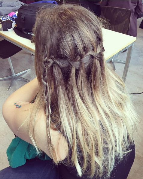 20 Best Waterfall Braid Hairstyle Ideas – Hairstyles Weekly Pertaining To Chic Waterfall Braid Prom Updos (View 2 of 25)