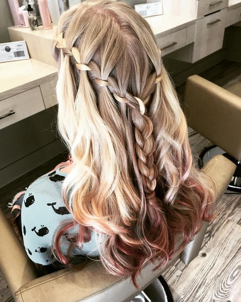 20 Best Waterfall Braid Hairstyle Ideas – Hairstyles Weekly Within Chic Waterfall Braid Prom Updos (View 14 of 25)