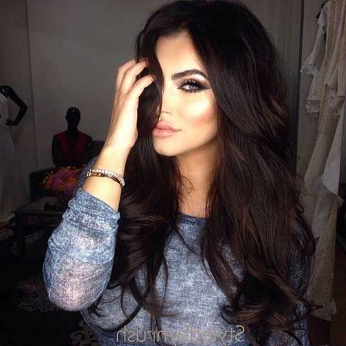 Featured Photo of Long Hairstyles Dark Brown
