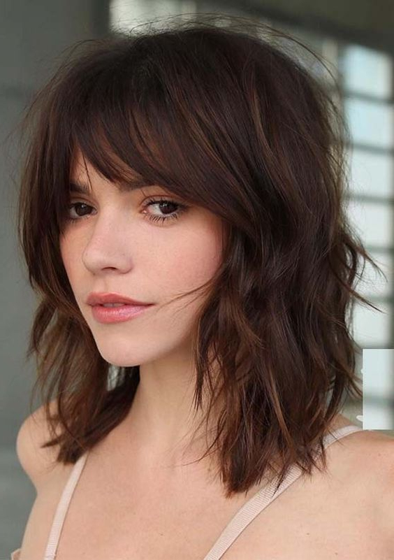 20 Different Types Of Bangs To Flatter And Frame Your Face With Regard To Long Hairstyles That Frame Your Face (View 14 of 25)