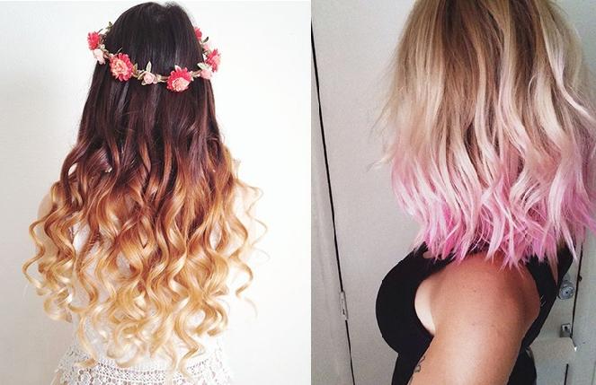 20 Dip Dyed Hairstyles That'll Make You Think O Regarding Long Hairstyles Dip Dye (View 8 of 25)