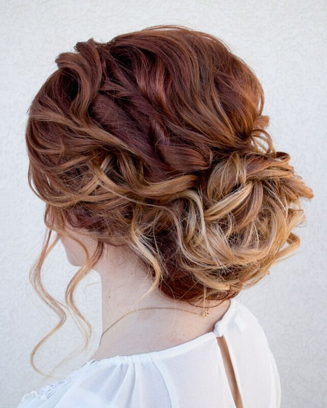 20 Easy Updo Hairstyles For Medium Hair | Pretty! | Curly Hair Regarding Easy Curled Prom Updos (View 4 of 25)