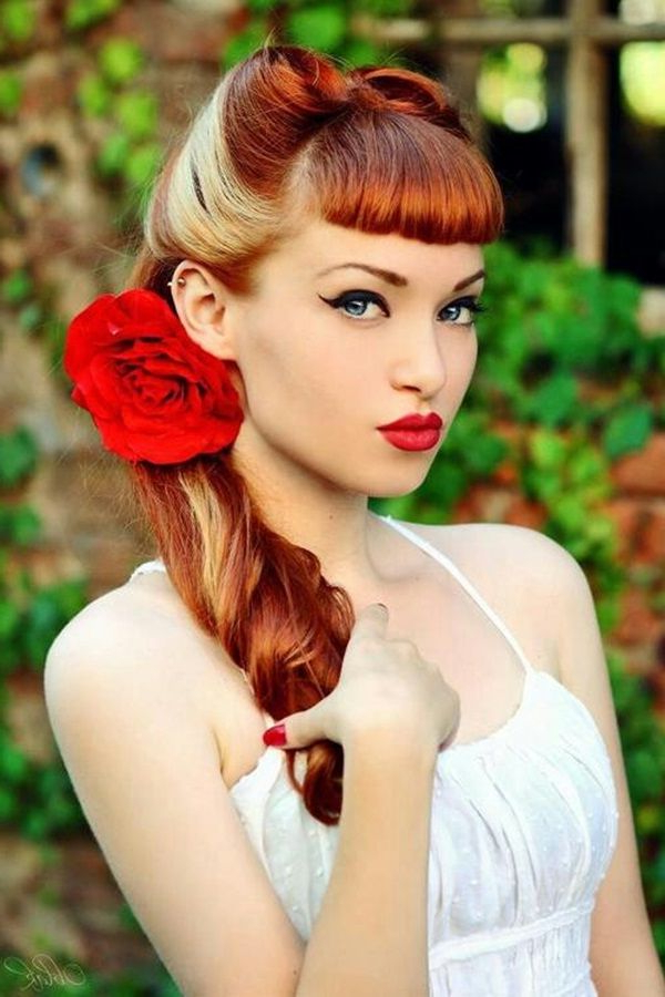 20 Elegant Retro Hairstyles 2019 – Vintage Hairstyles For Women For Vintage Haircuts For Long Hair (View 7 of 25)