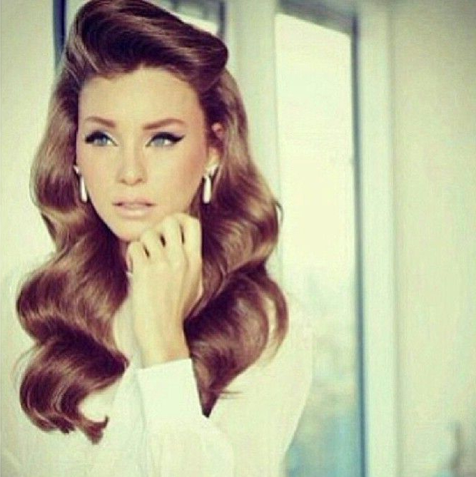 20 Elegant Retro Hairstyles 2019 – Vintage Hairstyles For Women In With Long Vintage Hairstyles (View 6 of 25)