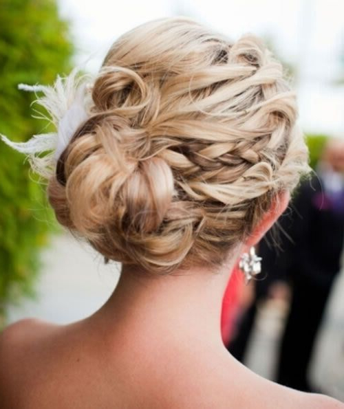 20 Exciting New Intricate Braid Updo Hairstyles – Popular Haircuts In Braid And Fluffy Bun Prom Hairstyles (View 7 of 25)