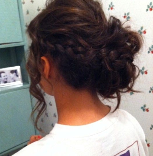 20 Exciting New Intricate Braid Updo Hairstyles – Popular Haircuts Throughout Braid And Fluffy Bun Prom Hairstyles (View 11 of 25)