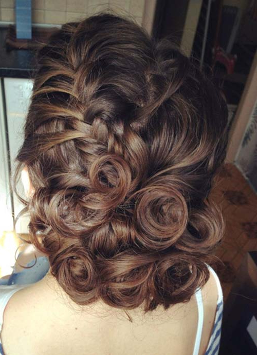 Featured Photo of Rosette Curls Prom Hairstyles
