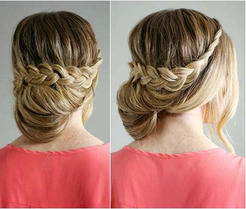 20 Exquisite Prom Updos For Long Hair Inside Fishtailed Snail Bun Prom Hairstyles (View 18 of 25)