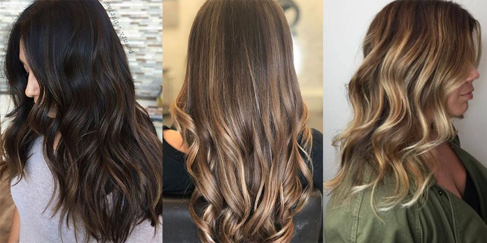 20 Hair Color Ideas And Styles For 2019 – Best Hair Colors And Products With Curly Golden Brown Balayage Long Hairstyles (View 20 of 25)