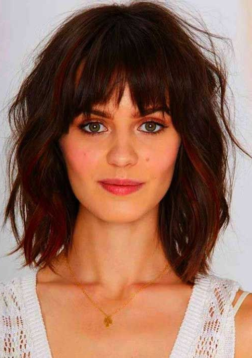 20 Haircuts With Bangs For Round Faces In Long Haircuts With Bangs For Round Faces (View 8 of 25)