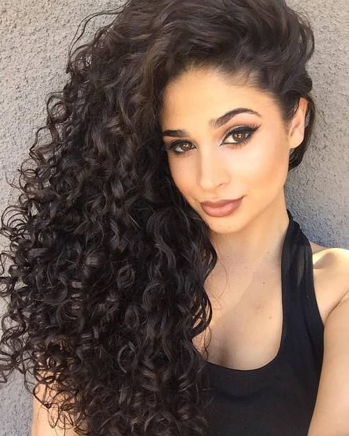 20 Hairstyles And Haircuts For Curly Hair In 2019 | Hair It Is Within Curly Long Hairstyles (View 13 of 25)