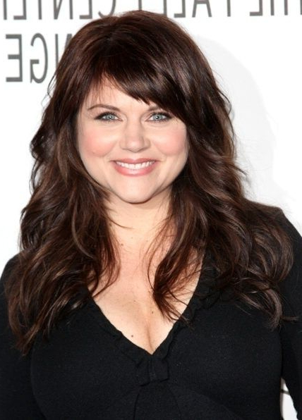 20 Hairstyles For Chubby Faces   Herinterest   Hair And Make Up Within Long Hairstyles With Bangs For Round Faces (View 7 of 25)