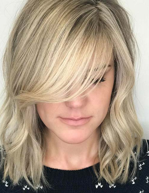 20 Hairstyles With Side Swept Bangs That Will Sweep You Off Your Feet For Long Hairstyles With Angled Swoopy Pieces (View 3 of 25)