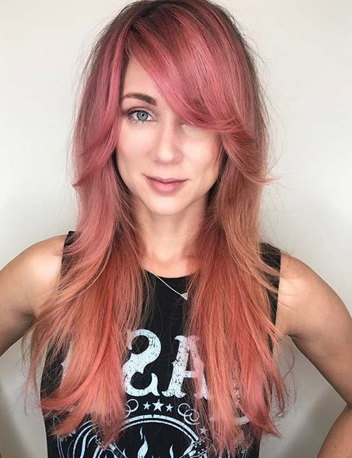 20 Hairstyles With Side Swept Bangs That Will Sweep You Off Your Feet For Long Hairstyles With Side Swept Bangs (View 8 of 25)