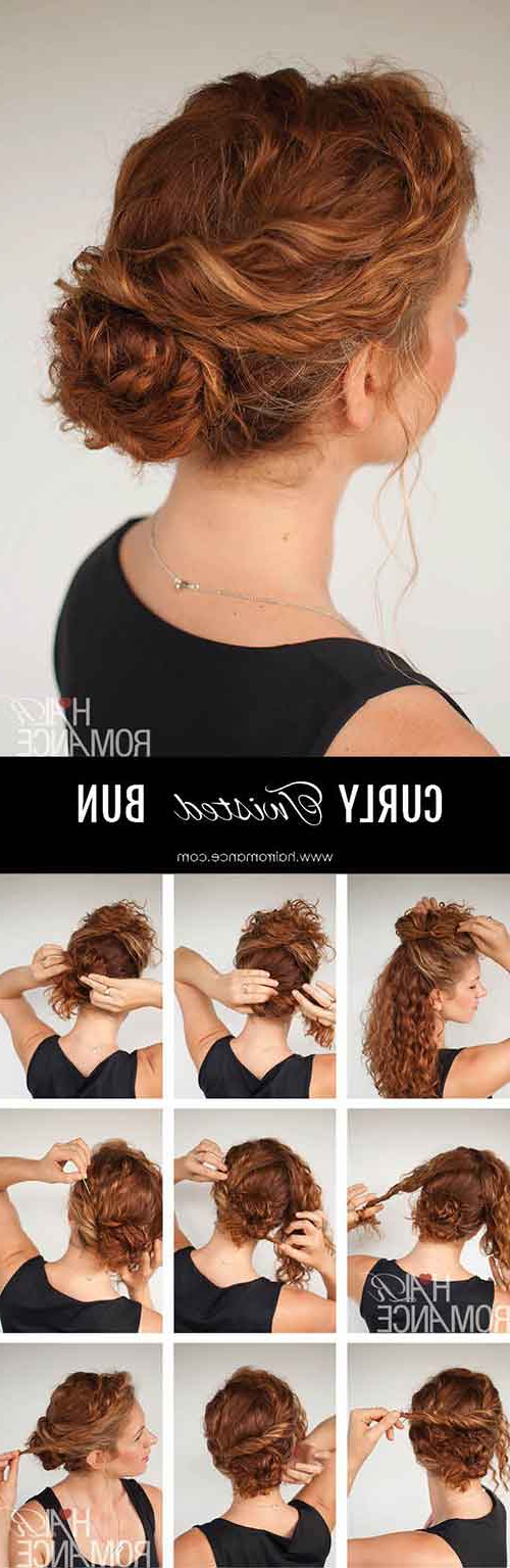 20 Incredibly Stunning Diy Updos For Curly Hair In Easy Curled Prom Updos (View 9 of 25)