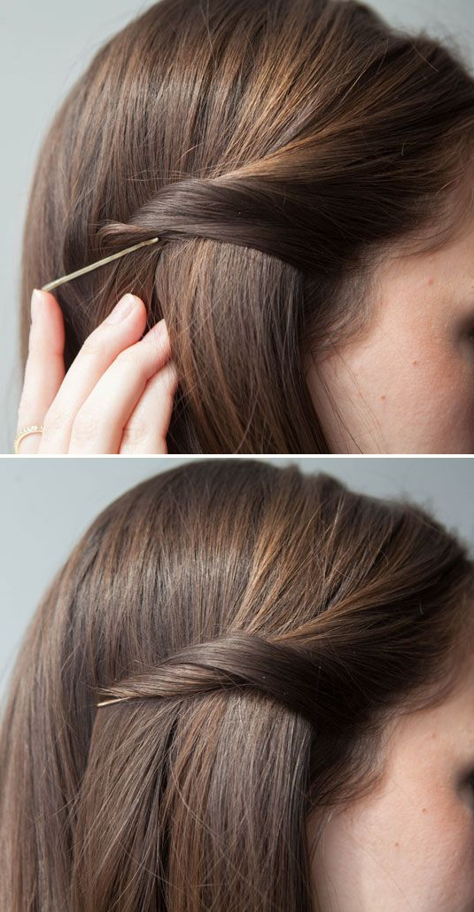 20 Life Changing Ways To Use Bobby Pins | Cosmo Hair | Hair, Hair For Long Hairstyles Using Bobby Pins (View 2 of 25)