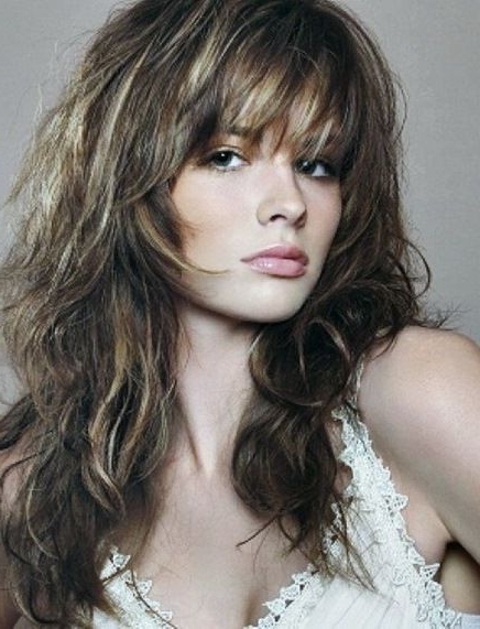20 Long Layered Haircuts With Bangs (View 12 of 25)