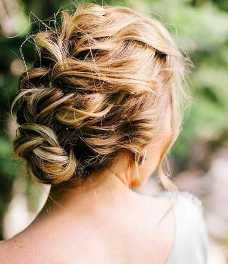 20 Messy Bun Hairstyles For Prom Intended For Messy Braided Prom Updos (View 8 of 25)