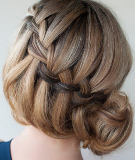 Featured Photo of Side Bun Twined Prom Hairstyles With A Braid