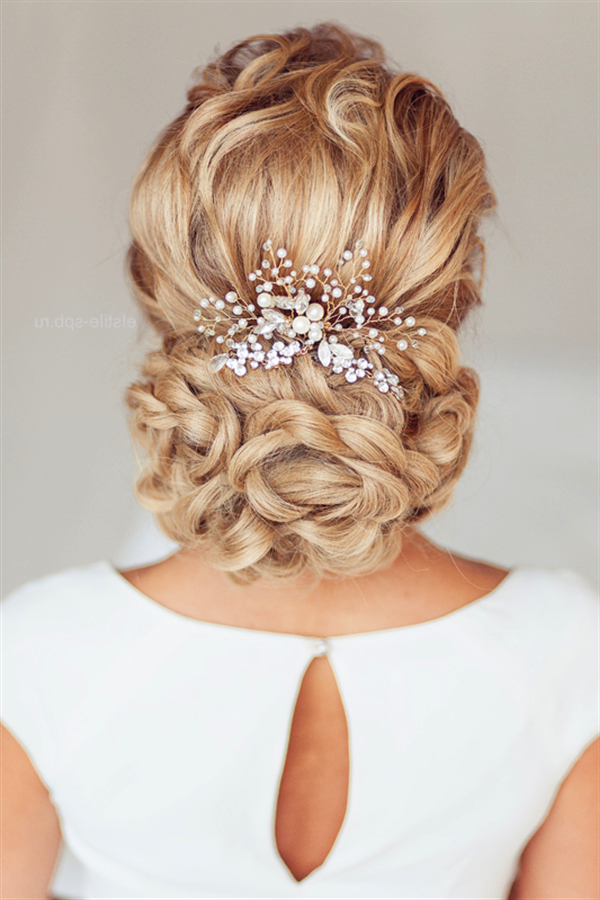 20 Most Beautiful Updo Wedding Hairstyles To Inspire You | Deer Pertaining To Low Pearled Prom Updos (View 7 of 25)