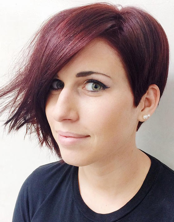 20 Most Flattering Asymmetrical Bob Hairstyles With Regard To Half Short Half Long Hairstyles (View 10 of 25)