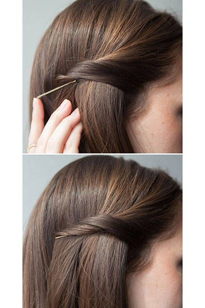 20 New Ways To Use Bobby Pins | Beauty & Hair | Hair, Hair Styles Intended For Long Hairstyles Using Bobby Pins (View 9 of 25)
