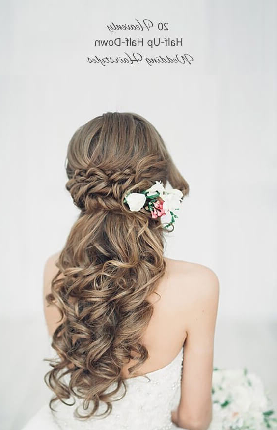 20 Perfect Half Up Half Down Hairstyles For The Bride – Mrs2Be With Wedding Half Up Long Hairstyles (View 24 of 25)