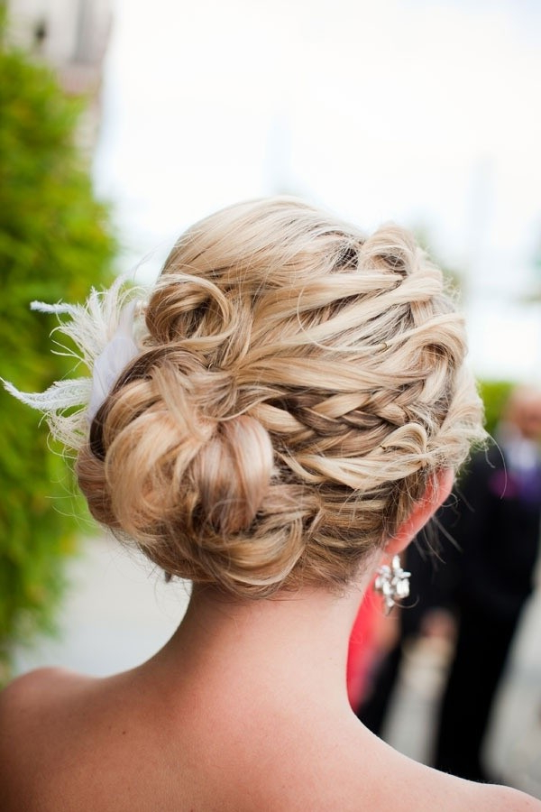20 Pretty Braided Updo Hairstyles – Popular Haircuts Regarding Messy Braided Prom Updos (View 11 of 25)