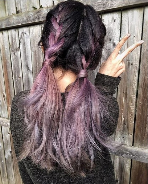 20 Purple Ombre Hair Color Ideas – Popular Haircuts Throughout Purple Long Hairstyles (View 13 of 25)